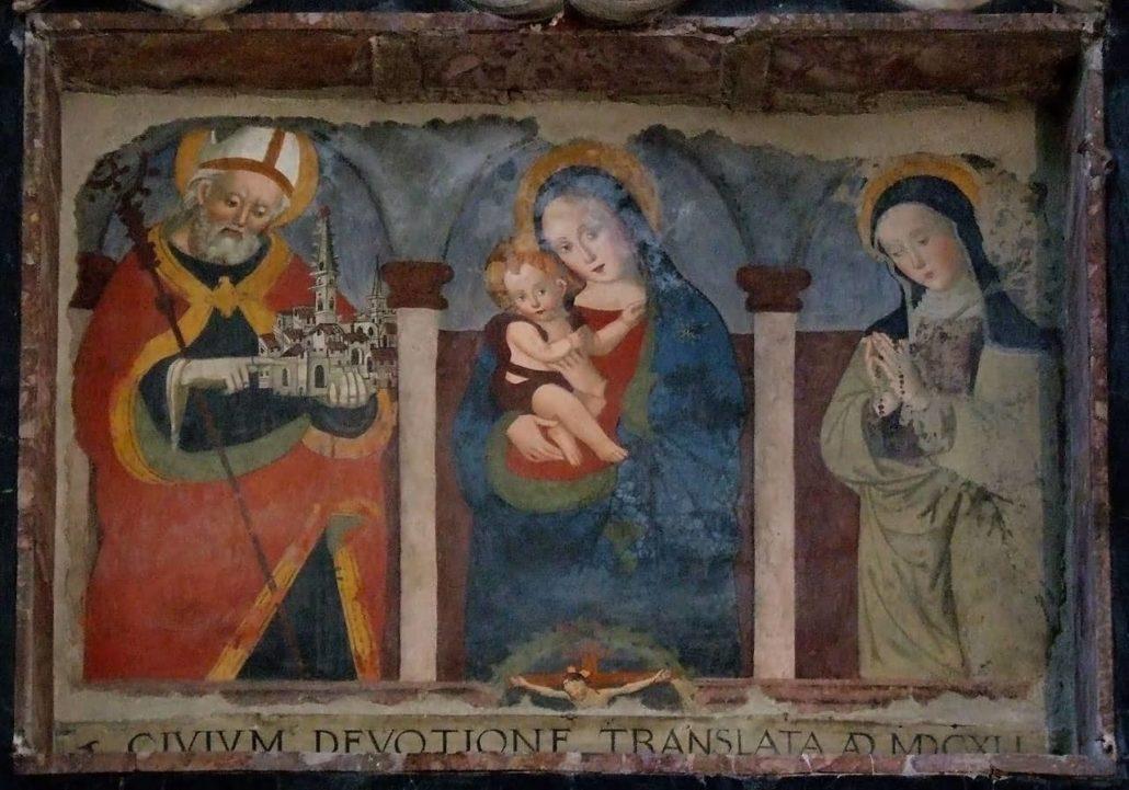 Norcia Affresco Basilica San Benedetto