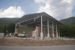 Campi di Norcia - Chiesa di San Salvatore dopo il terremoto del 2016